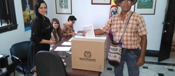 El Consulado de Colombia en La Habana inició el proceso electoral para Presidente y Vicepresidente de la República, que se realiza del 21 al 27 de mayo de 2018
